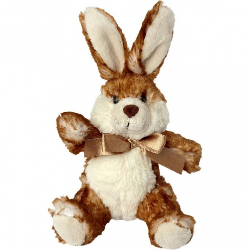 Peluche lapin - STEPHANIE - 60022 - 14 cm - marron