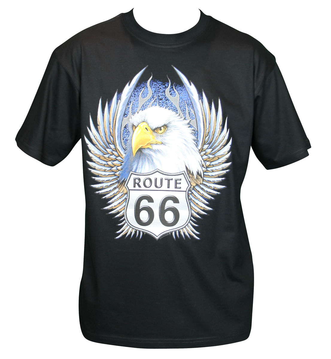 t shirt homme manches courtes aigle route 66 usa biker 13034. Black Bedroom Furniture Sets. Home Design Ideas