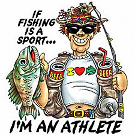 T-shirt homme manches courtes - Humour Pêcheur - I'm an athlete - Pêche- fishing - 5199 - blanc
