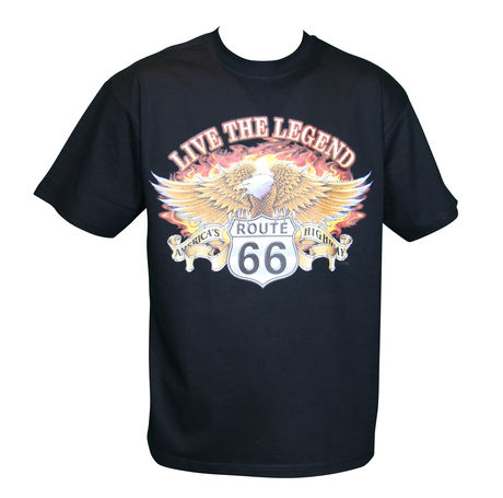 T-shirt HOMME manches courtes - Aigle route 66 USA Biker Live the legend - 6722