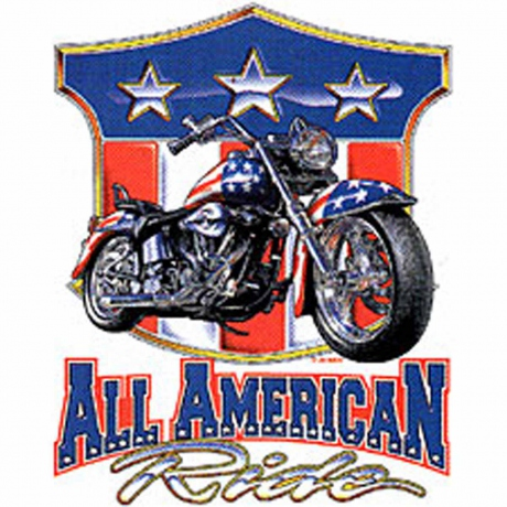 T-shirt HOMME manches courtes - Moto biker ALL AMERICAN RIDE USA - 3824