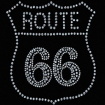 T-shirt femme manches courtes - ROUTE 66 USA Biker - strass - 4960