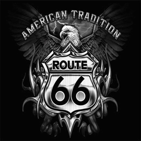 T-shirt HOMME manches courtes - ROUTE 66 Aigle American tradition Moto Biker USA - 8729