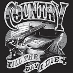 T-shirt HOMME manches courtes - COUNTRY MUSIQUE Till the day I die - Guitare - 13277