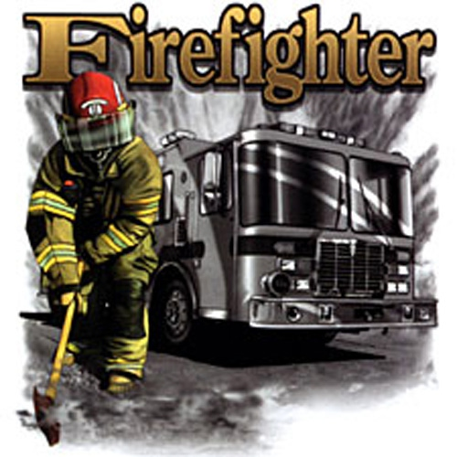 T-shirt femme manches courtes - Pompiers USA Firefighter - 11443