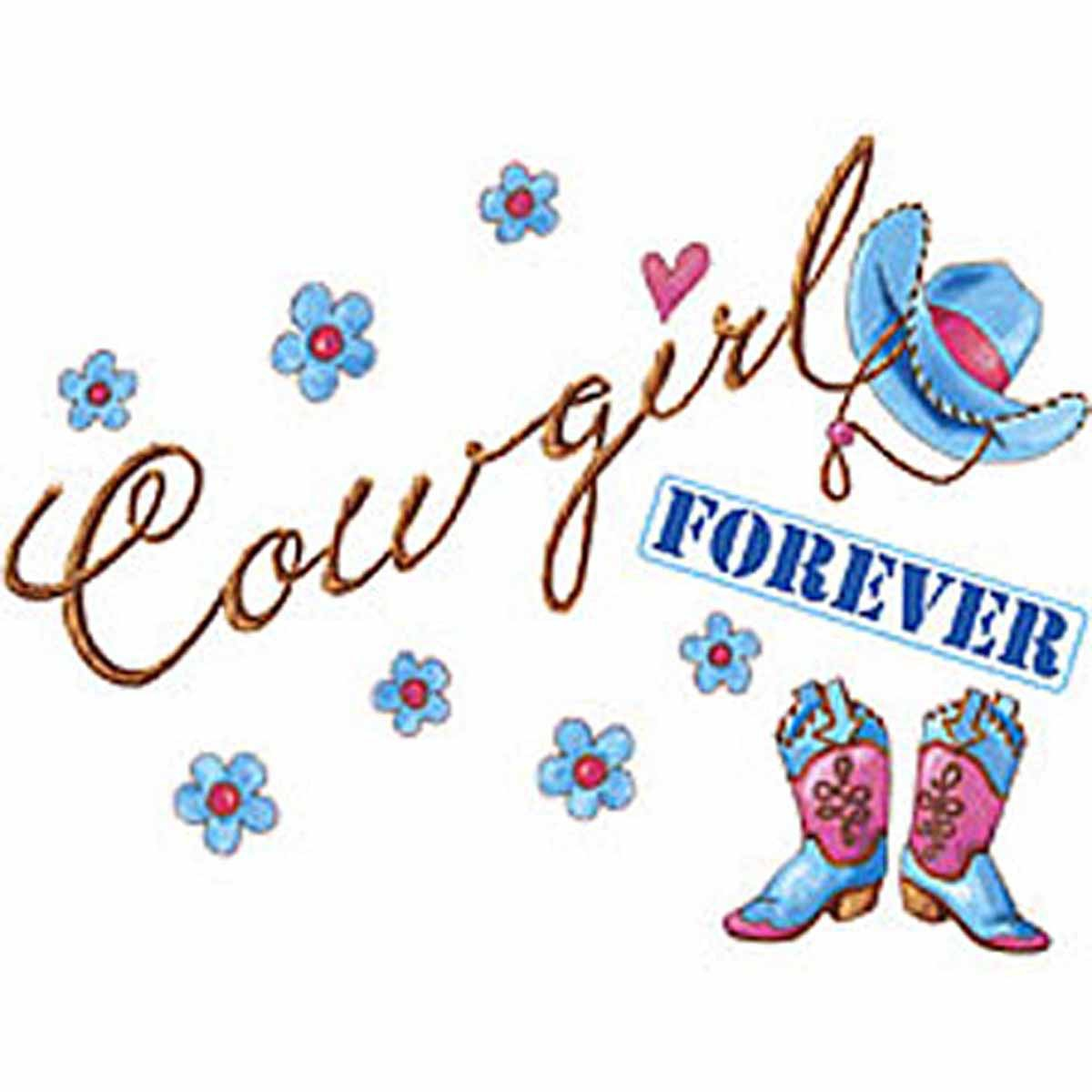 T-shirt FEMME manches courtes - Country - Cowgirl forever - 3026