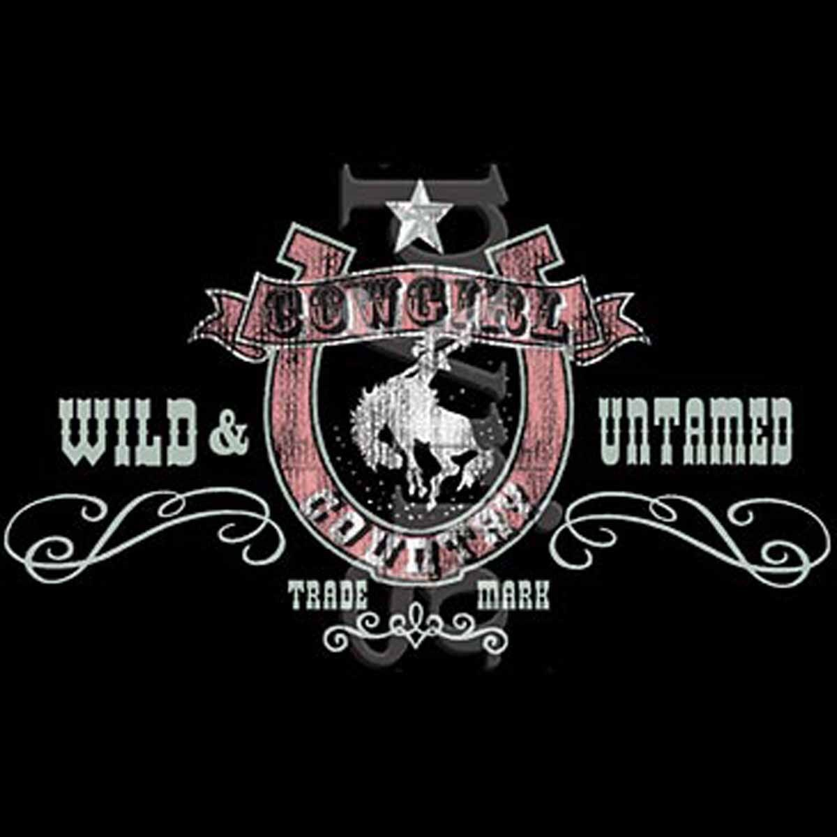 T-shirt homme manches courtes - Country Cowgirl Wild & Untamed - Cheval - 1040
