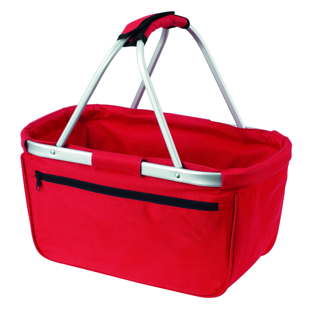 Panier pliable cabas courses shopping 1803939 rouge