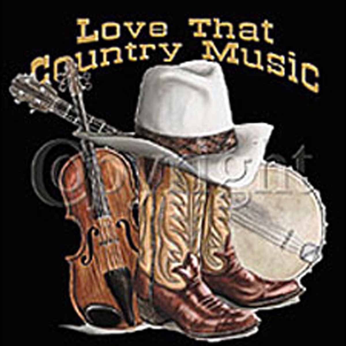 T-shirt femme manches courtes - Love that Country Music - 10865