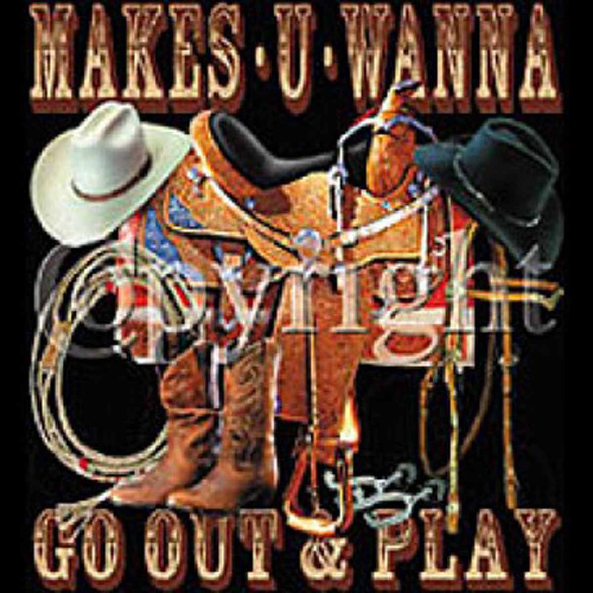 T-shirt femme manches courtes - Country Music Makes U Wanna - 11117