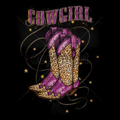 T-shirt femme manches courtes - Country Music Cowgirl boots - 12697