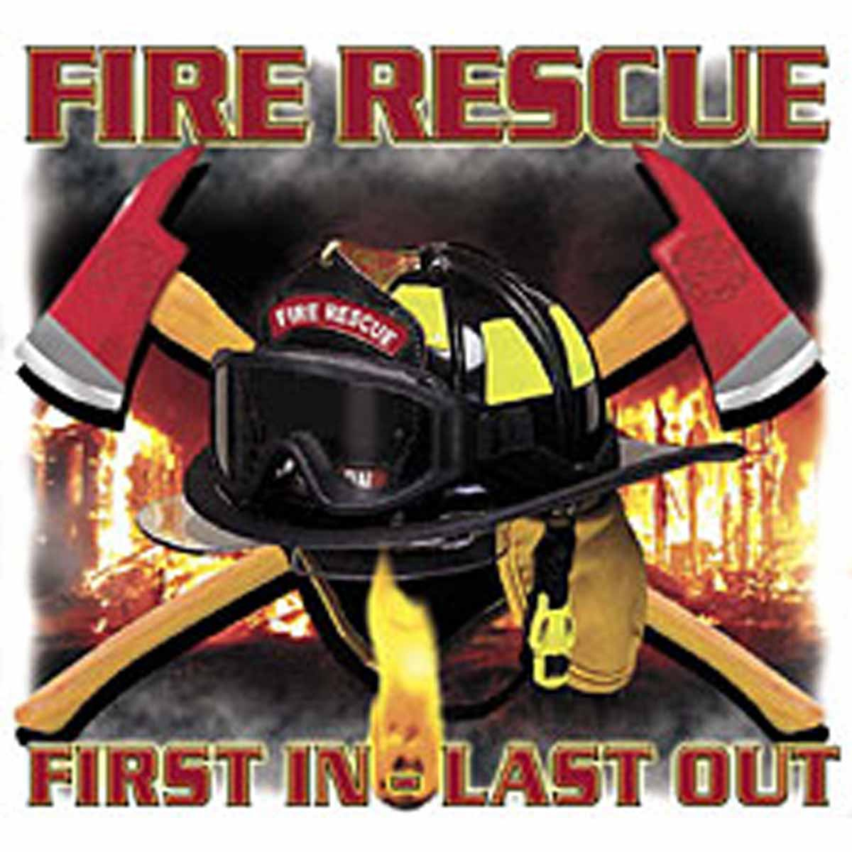 T-shirt HOMME manches courtes - Fire rescue First in Last out - Sapeurs Pompiers - USA - 13488 - blanc