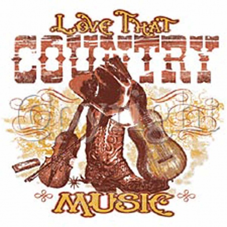 T-shirt FEMME manches courtes - Love That Country Music - 9157 - blanc