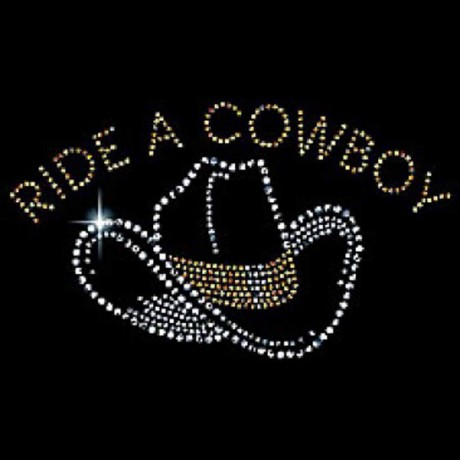T-shirt femme manches courtes - Country RIDE A COWBOY - strass - 4225