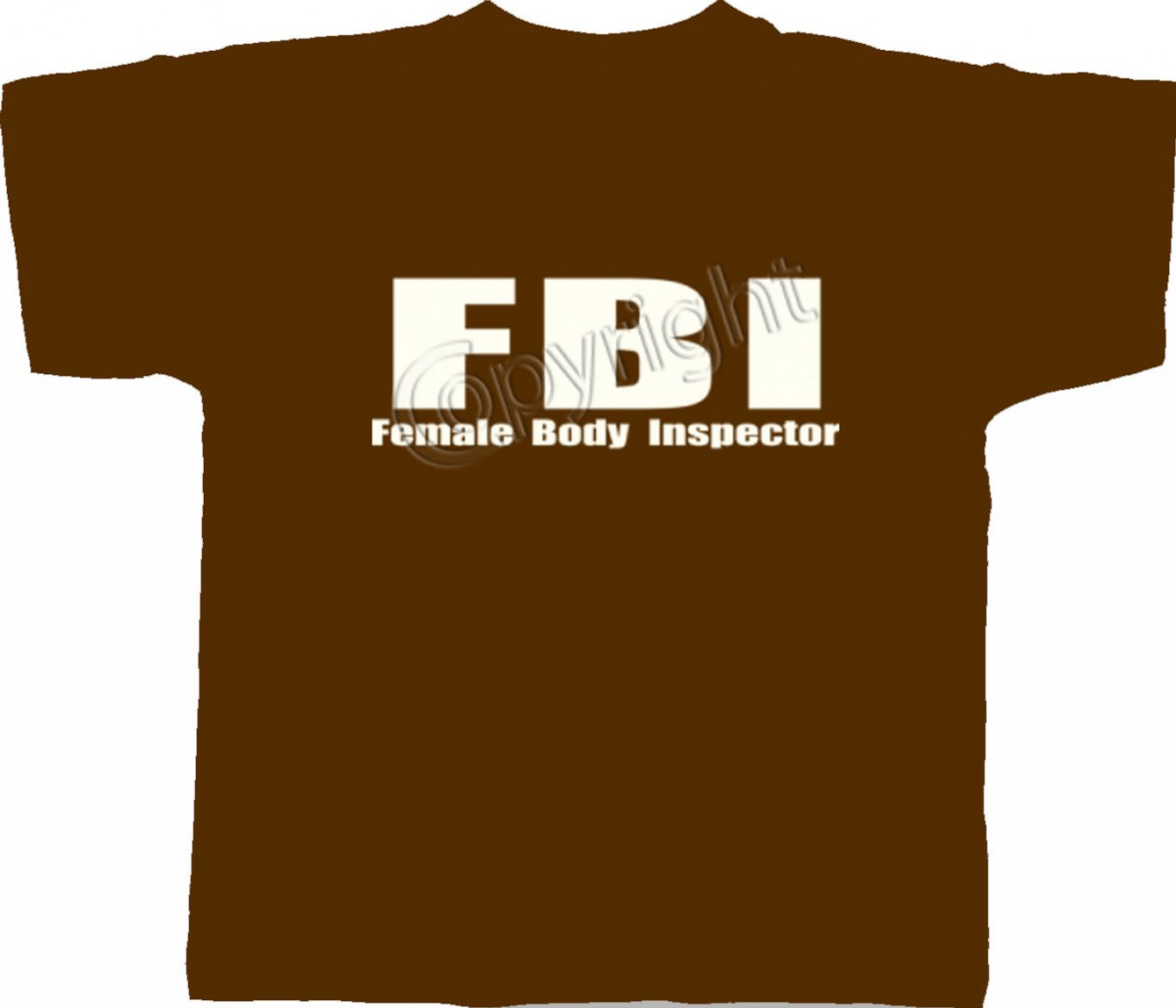 T-shirt homme manches courtes - FBI Female Body Inspector - humour - 4799