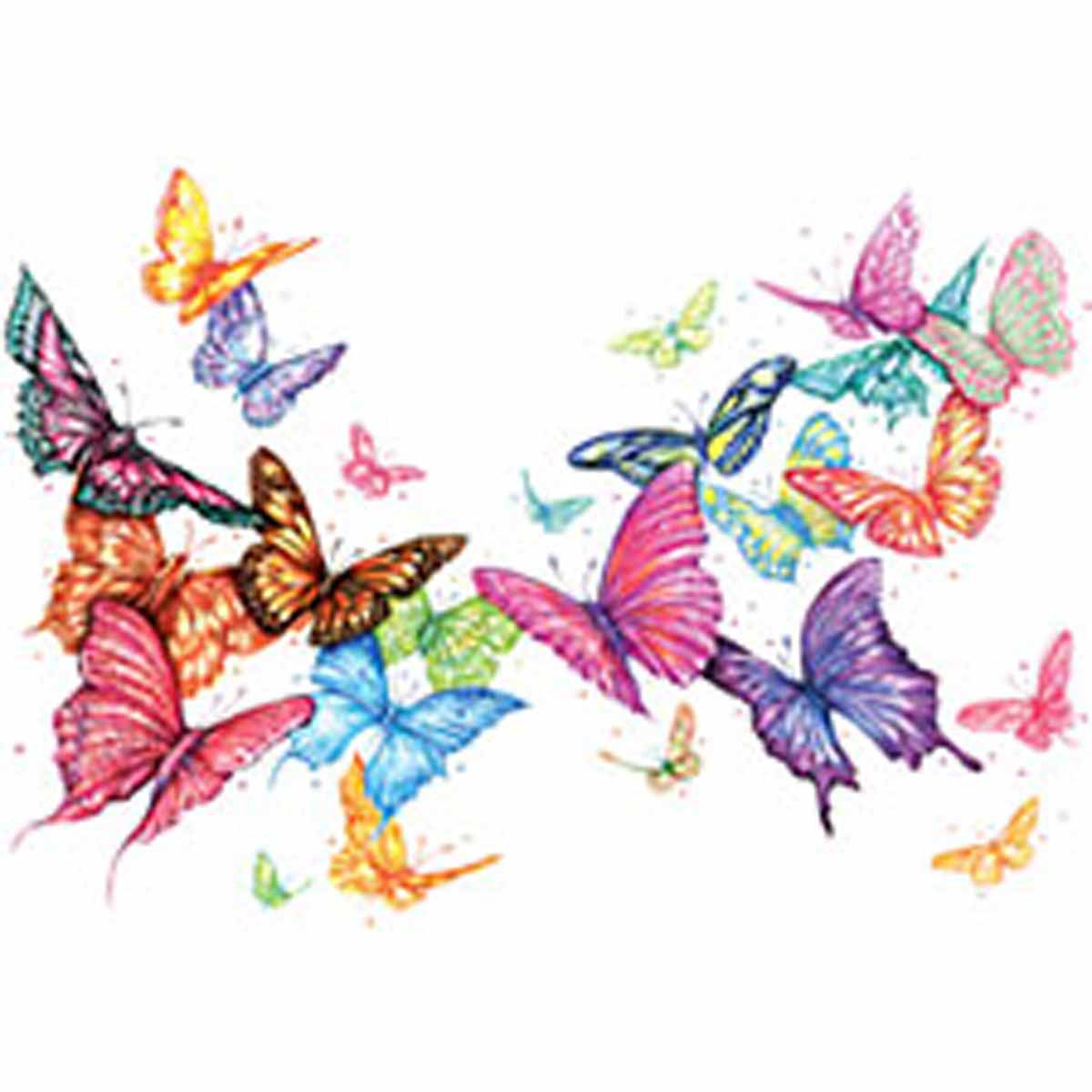 T-shirt femme manches courtes - Papillons nuage - Butterfly - 5140