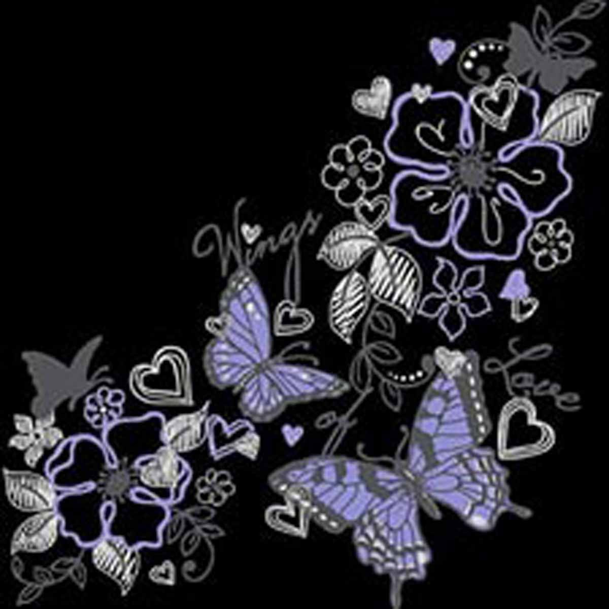 T-shirt femme manches courtes - Papillons wings love  - Butterfly - 13091