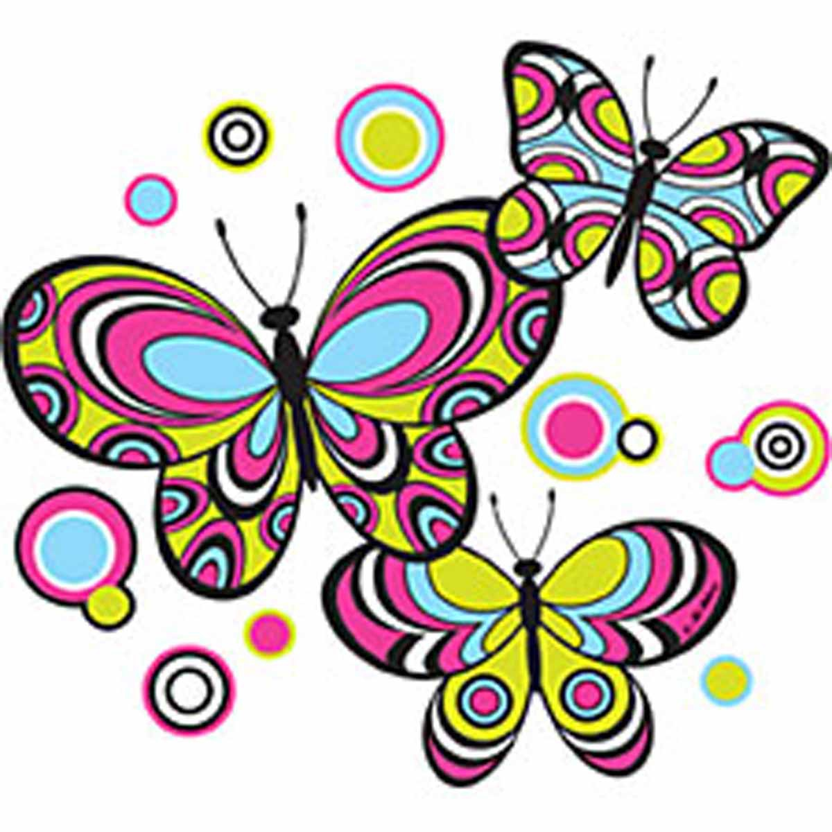 T-shirt femme manches courtes - Papillons multicolores  - Butterfly - 1112