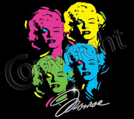 T-shirt femme manches courtes - Marylin Monroe - Popart - 10966