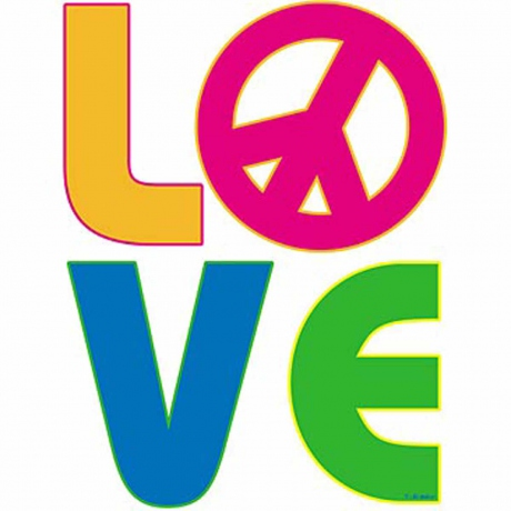T-shirt femme manches courtes - PEACE and LOVE - 12702