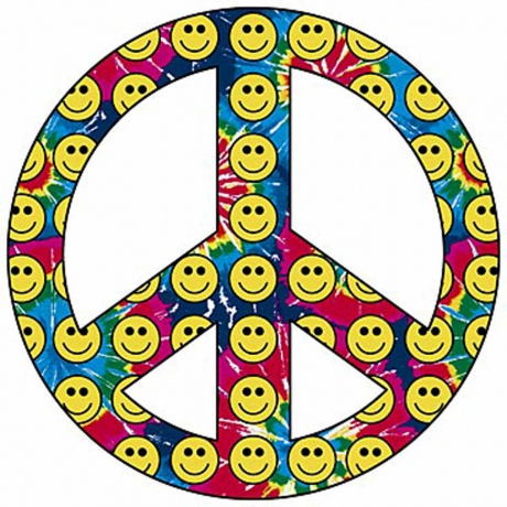 T-shirt homme manches courtes - PEACE and LOVE - Smiley - 10294