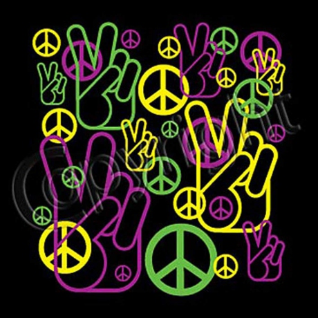 T-shirt homme manches courtes - MAIN signe PEACE and LOVE - 12215