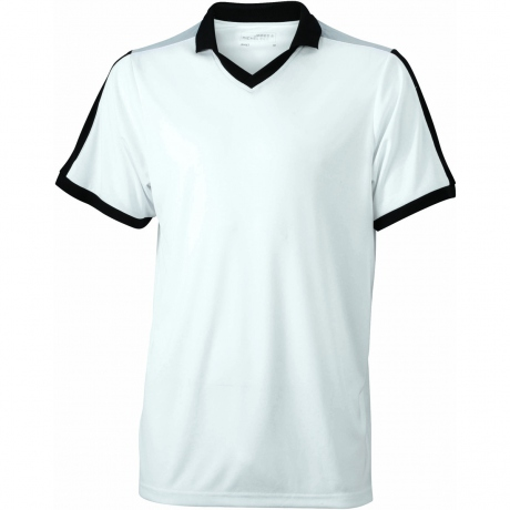 Maillot multisport ADULTE col V style polo JN467 - blanc