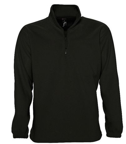 Sweat shirt polaire col zippé - 56000 - noir