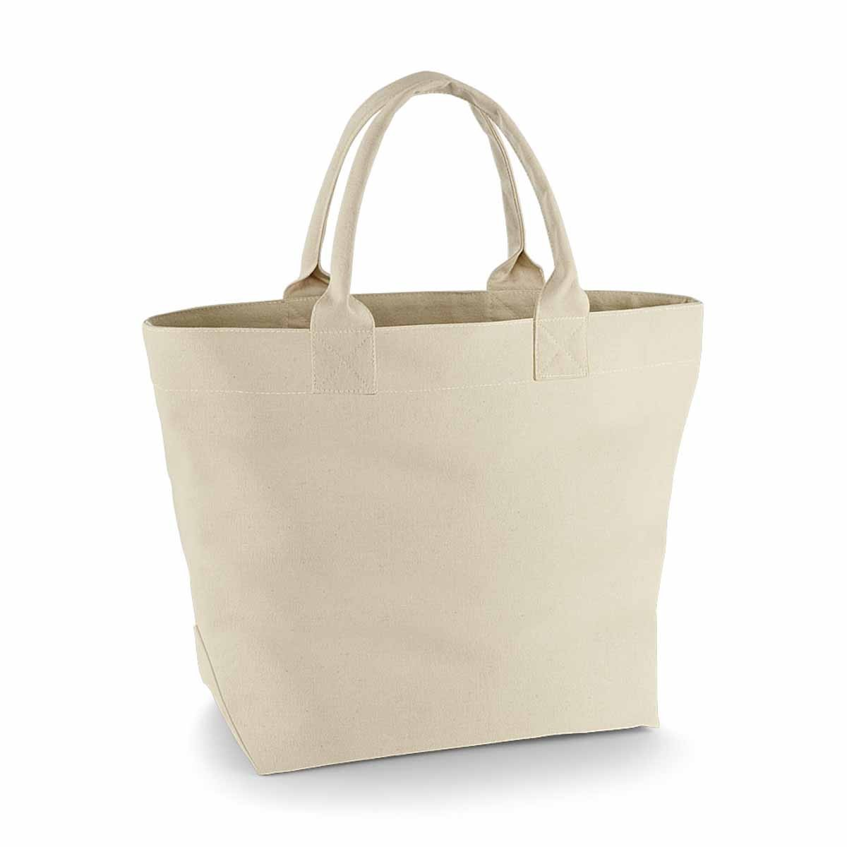 Sac cabas shopping ou plage en toile - QD26 - beige naturel