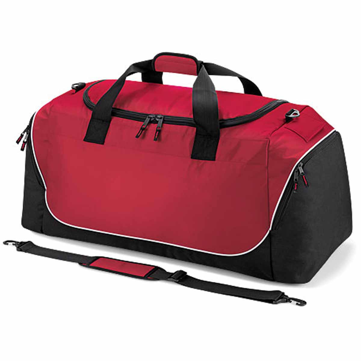 Sac de sport grand volume 104 L - QS88 - rouge - noir - blanc