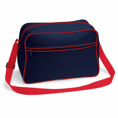 Sac bandoulière retro shoulder bag BG14 - bleu marine tour rouge