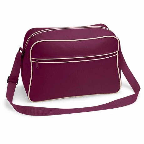 Sac bandoulière retro shoulder bag BG14 - rouge bordeau