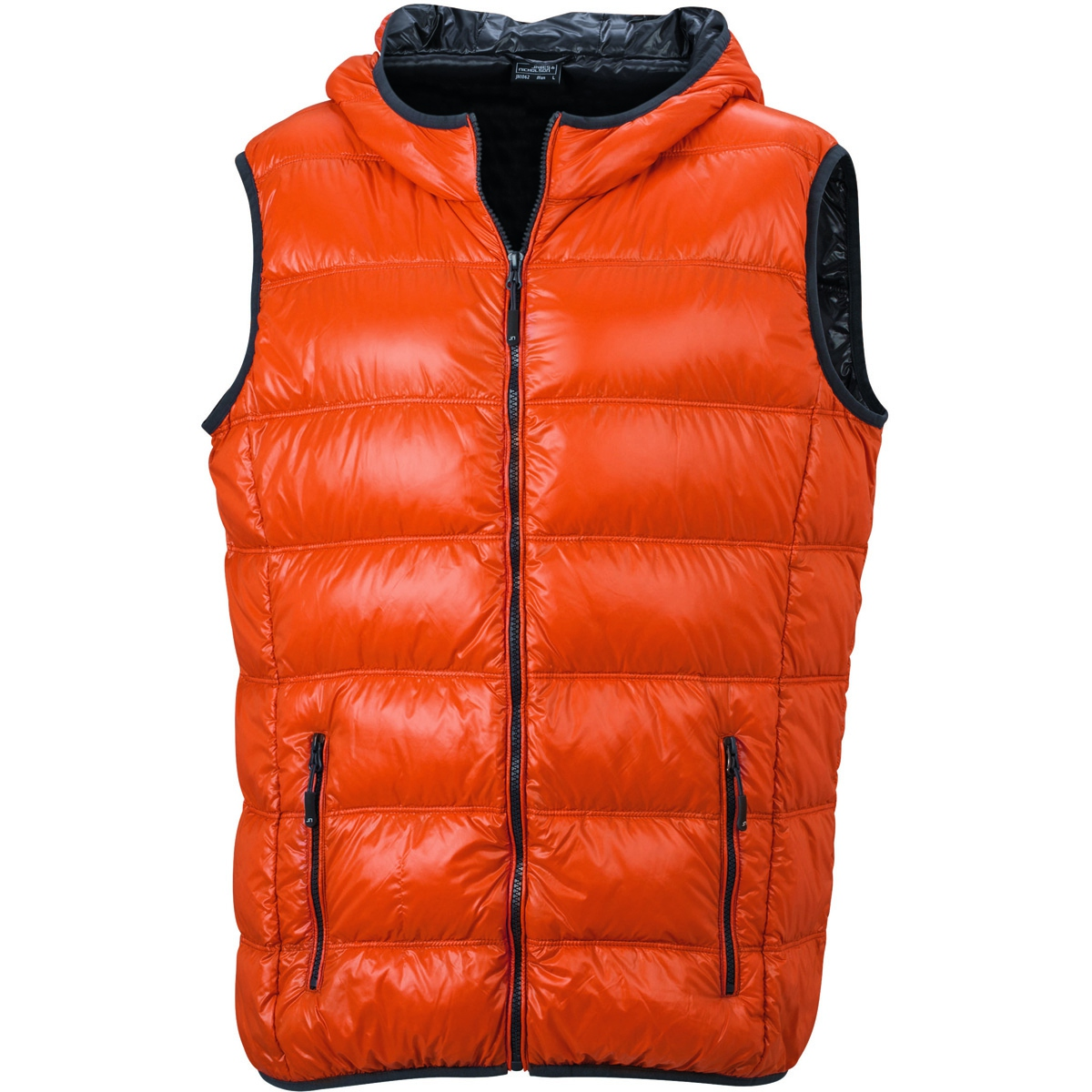 bodywarmer duvet doudoune sans manches anorak homme jn1062 orange. Black Bedroom Furniture Sets. Home Design Ideas