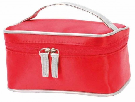 Trousse toilette maquillage beauté rectangulaire - 1.5L -  Shugon Wels 4833 - rouge