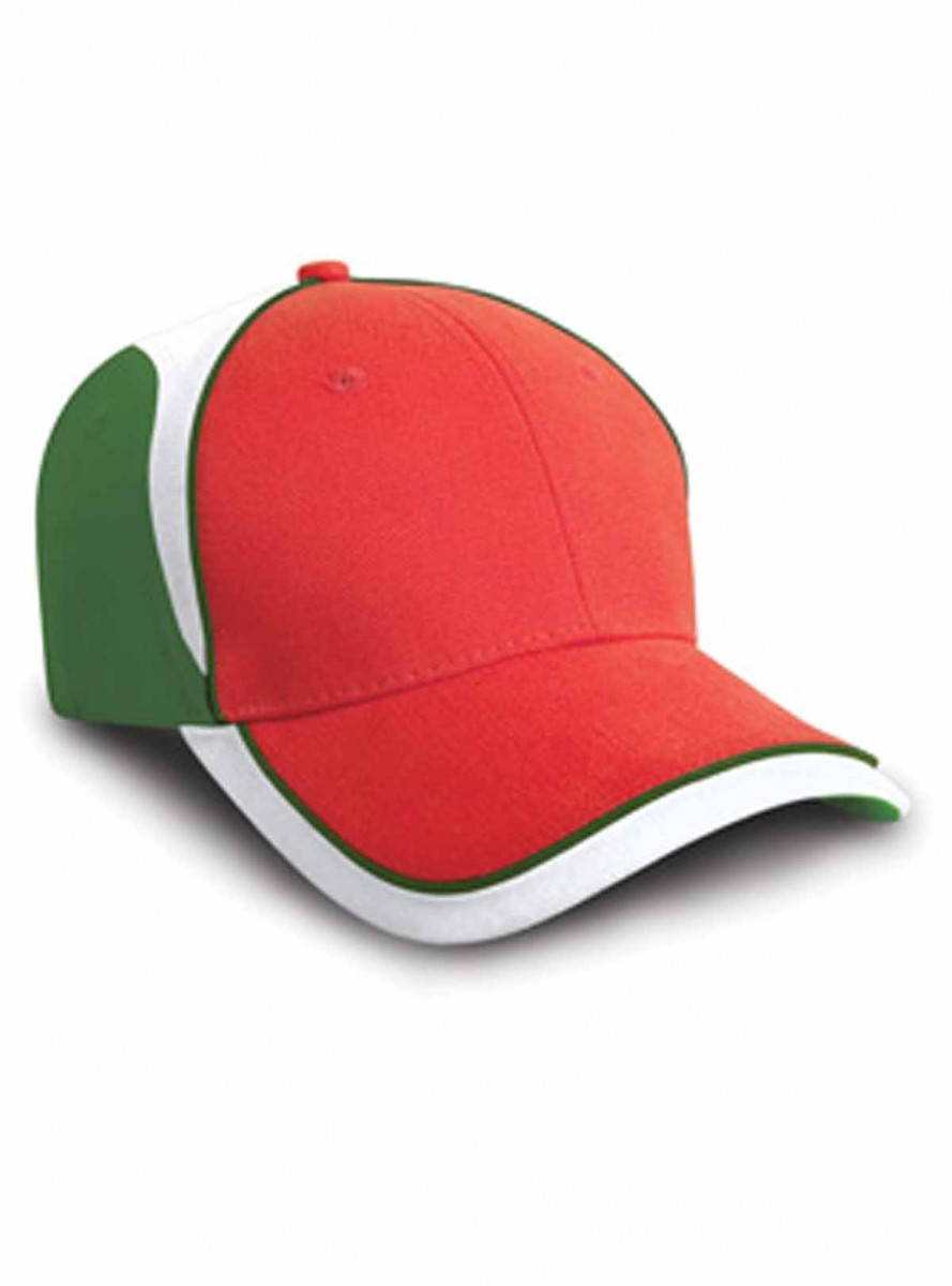 Casquette supporter couleurs Italie - RC062 - rouge