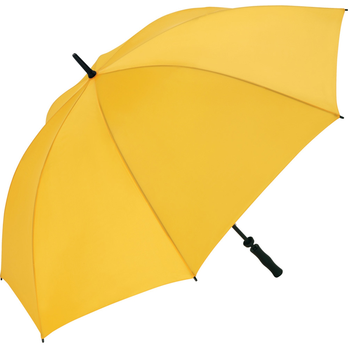 parapluie golf grande taille 130 cm windproof 2235 jaune. Black Bedroom Furniture Sets. Home Design Ideas