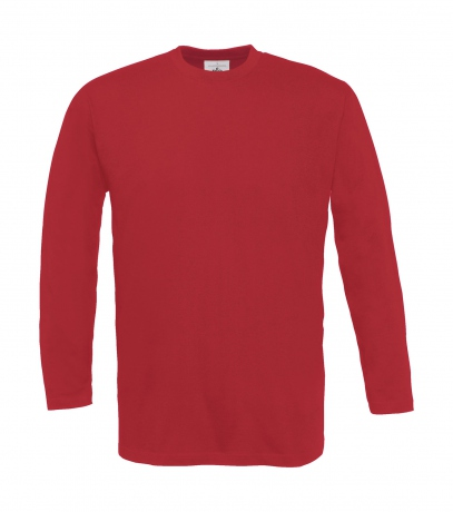 T-shirt manches longues homme - col rond - TU005 - rouge