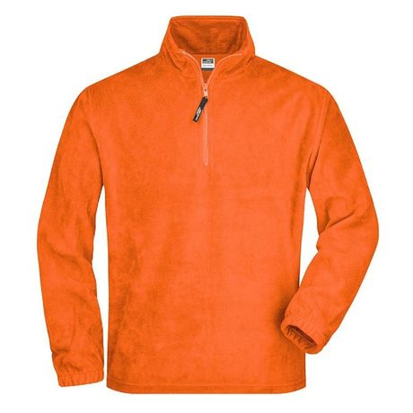 Sweat polaire col zippé homme - JN043 - orange