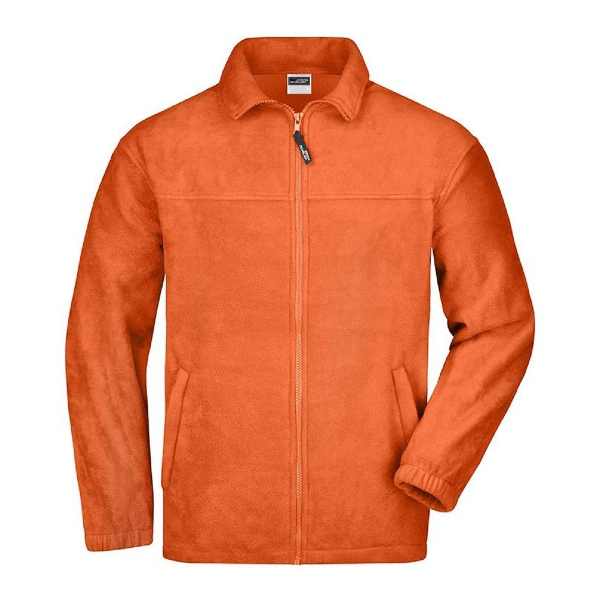 Veste polaire zippée homme - JN044 - orange