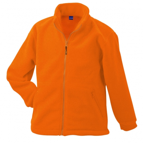 Veste polaire zippée enfant - JN044K - orange