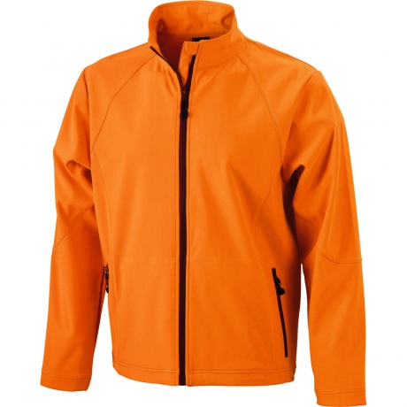Veste softshell coupe-vent imperméable homme JN1020 - orange