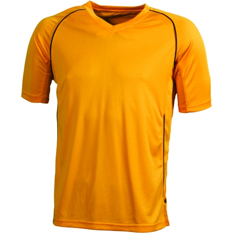 T-shirt polyester ENFANT col V Maillot Football - JN386K - orange