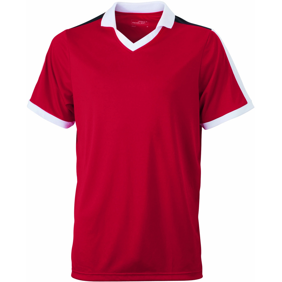 Maillot multisport ADULTE col V style polo JN467 - rouge