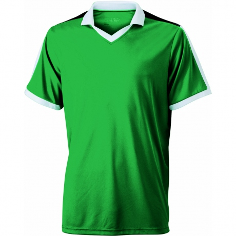Maillot multisport ADULTE col V style polo JN467 - vert