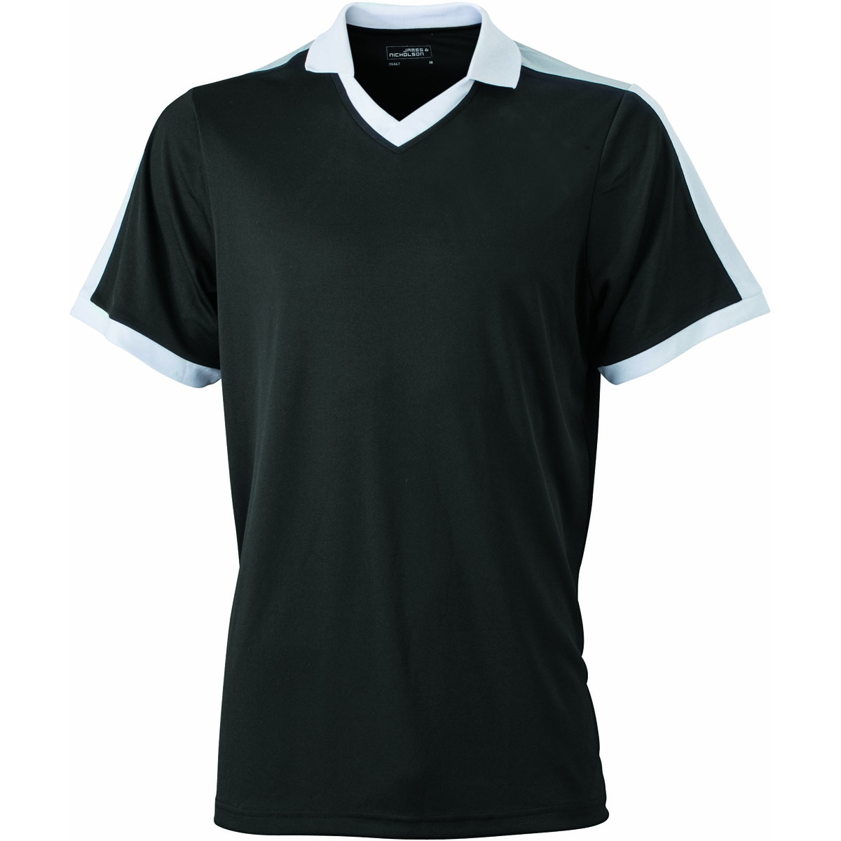 Maillot multisport ADULTE col V style polo JN467 - noir