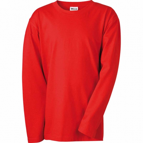T-shirt manches longues adulte homme coupe droite JN913 - rouge