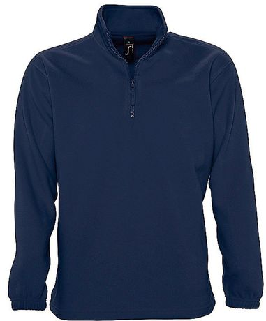 Sweat shirt polaire col zippé - 56000 - bleu marine