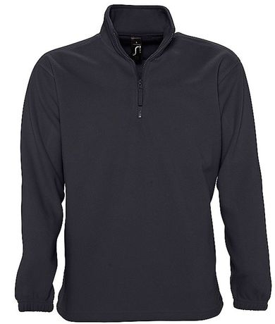 Sweat shirt polaire col zippé - 56000 - gris anthracite