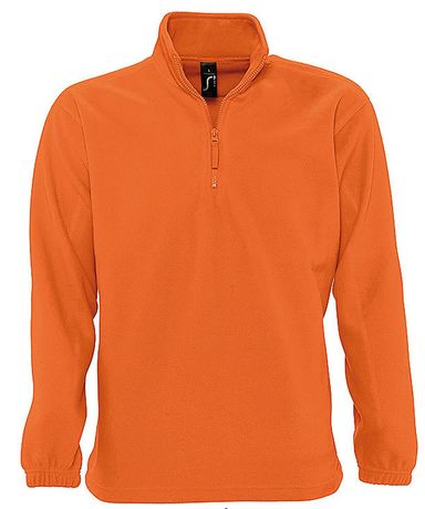 Sweat shirt polaire col zippé - 56000 - orange