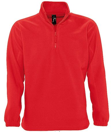 Sweat shirt polaire col zippé - 56000 - rouge